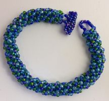 Russian Spiral Beaded Bracelet by BirdyBunnyCreations