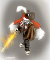 Zenox the steampunk fire musketeer by twisted-wind