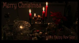 Merry Christmas candles by Icedrop21