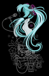 Miku Lines by SpaceKitty