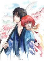 Hak and Yona by sarinaxue