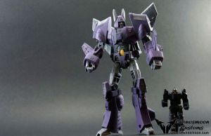 Custom Transformers Cyclonus and Nighstick by chonosmoon
