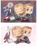 COIN POUCH Thundershield (Thor x Steve) by Vulpixi-Misa