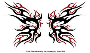 Tribal Butterfly for Cleavage by Ojibway-Doko
