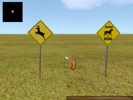 Horse/DeerCrossing_Sign.mesh by Chunkymonkey94