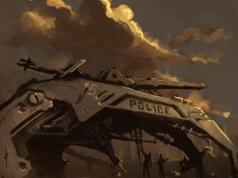 Police Tank - Daily sketch by daadaa