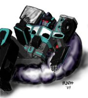 RiD  Scourge on beanbag chair by LadyScourgE