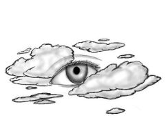 eye in clouds by Sevenslashes
