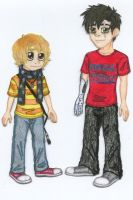ROTG OCs - Gabe and Will by Jackie-Chaos-Bunny