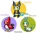 Cardley Bleurm and Zapchu by PokemonMasta
