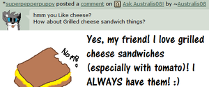 Ask Australis: Grilled Cheese Sandwiches by M0N0KUMA
