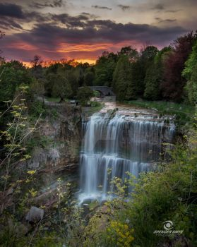 Websters Falls  sunset - Dundas Ontario by SpencerSmye