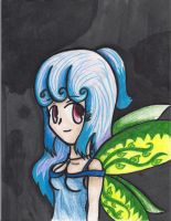 Blue haired anime fairy by NinjaZombie5692