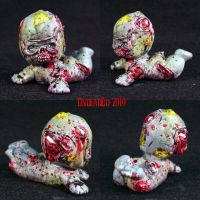 Zombie Kewpie figure ooak by Undead-Art