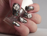 Pretty Resin Flowers with confetti glitter by Ithfifi