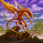 Gold Wyvern_Socratys by artsoldier77
