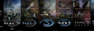 Halo Posters Saga Complete by DANYVADERDAY