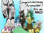 Guild Wars 2 ArenaNet Thank You card design by DoctorOverlord