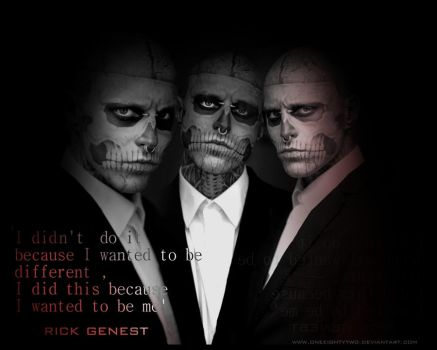 Rick Genest by oneeightytwo