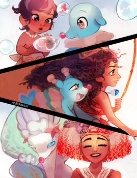 Moana is Evolving! by BAPOGICHI