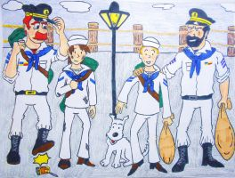 At Antwerp Belgium Harbor (Origins Tintin) by BardofMaple