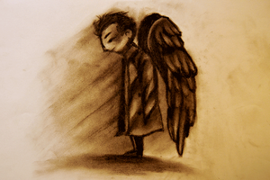 SPN: Castiel Angel 2 by cannorachan