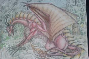Red dragon by Kayleigh-Kaz