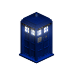 Isometric Doctor Who Tardis with transparency by omgwtflols