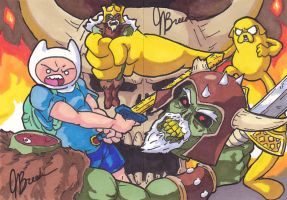 Sketch Cards #18/19 - Finn + Jake by destinyhelix