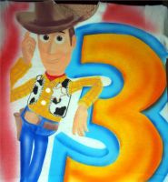 WOODY TOY STORY AIRBRUSHED by javiercr69