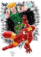 Guile Vs Iron-Man by rustywork