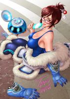 Fanart Mei Overwatch on Patreon by TORN-S