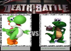 Death Battle Idea - Yoshi vs. Croc by xFlowerstarx