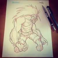 Commish 125 WIP 01 by RobDuenas