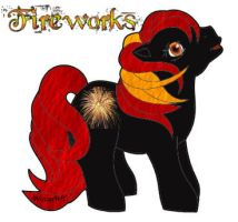 Fireworks MLP Standing by WiccanWT