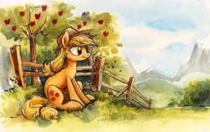 Sketch - Sweet Apple Acres by sophiecabra