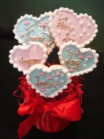 Sweet Heart Cookies by Sliceofcake