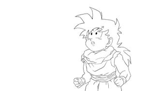 Son Gohan Lineart by RuokDbz98