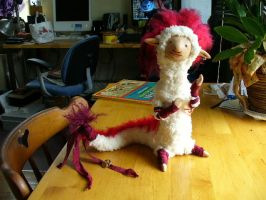 The Red Feathered Weasel by mammalfeathers