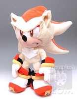 Sonic Super Shadow Plush Stand by kaijumama