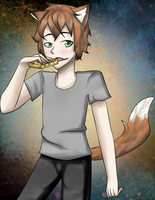 Request : Suicidal Andrew (eating cheese :3) by milkamanga