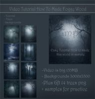 Video tut-made foggy wood by moonchild-lj-stock