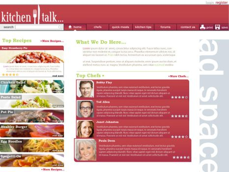 food website design by CrimsonStar6