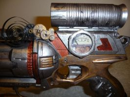 Steampunk Nerf Maverick mod by wildebore