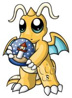 Dragonite Chibi by RedPawDesigns
