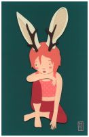 Jackalope Girl by renton1313