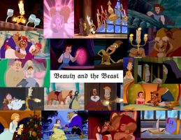 Disney Collage: Beauty and the Beast by JackieStarSister