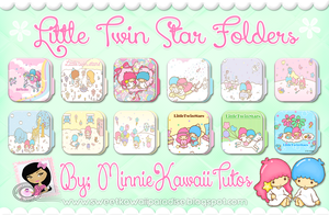 Cute Folders Little Twin Star (Carpetas) by MinnieKawaiiTutos