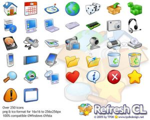 Refresh CL Icon Pack by TPDKCasimir Iconos para Windows XP