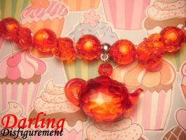 apple tea party choker by leggsXisXawsome